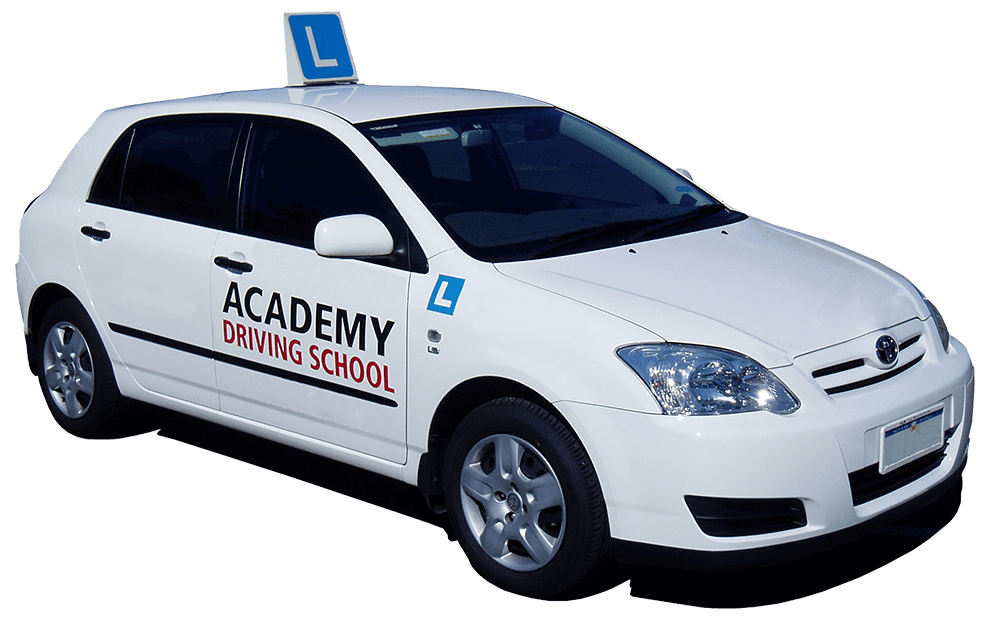 Academy Driving School car white
